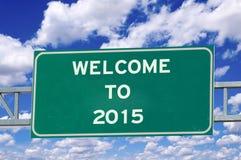 Onthaal aan het teken van 2015 Stock Foto