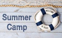 Onthaal aan het teken van het de zomerkamp Royalty-vrije Stock Foto