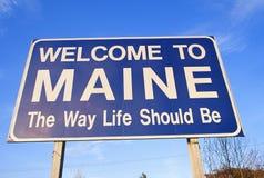 Onthaal aan het Teken van Maine Royalty-vrije Stock Foto's