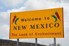 Onthaal aan het Teken van New Mexico Royalty-vrije Stock Fotografie