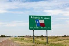 Onthaal aan het teken van Texas Royalty-vrije Stock Fotografie