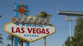Onthaal aan Las Vegas stock footage
