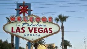 Onthaal aan Las Vegas stock video