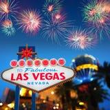 Onthaal aan Las Vegas Royalty-vrije Stock Afbeeldingen