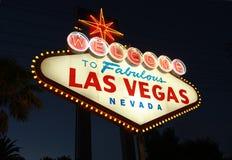 Onthaal aan Las Vegas Royalty-vrije Stock Foto's