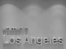 Onthaal aan Los Angeles Stock Foto