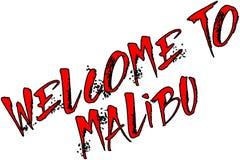 Onthaal aan Malibu-de illustratie van het tekstteken royalty-vrije stock foto