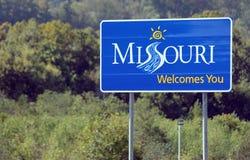 Onthaal aan Missouri stock afbeelding