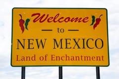 Onthaal aan New Mexico Royalty-vrije Stock Afbeeldingen
