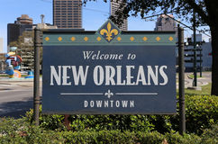 Onthaal aan New Orleans Royalty-vrije Stock Afbeelding