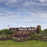 Onthaal aan Omaha Beach Royalty-vrije Stock Foto