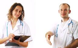 Onthaal aan onze kliniek! Stock Foto