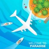 Onthaal aan Paradijs Stock Foto