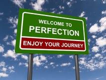 Onthaal aan Perfectie stock foto