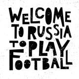 Onthaal aan Rusland om voetbal te spelen vector illustratie