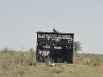 Onthaal aan Tanzania royalty-vrije stock afbeelding