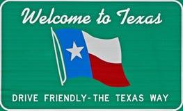 Onthaal aan Texas Stock Afbeelding