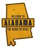 Onthaal aan van de het Tekenweg van Alabama het Art. van de Straatgrunge royalty-vrije stock foto