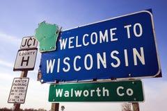 Onthaal aan Wisconsin Royalty-vrije Stock Foto's