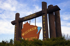 Onthaal aan Wisconsin stock foto's