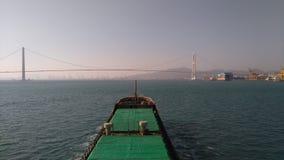 Onthaal aan Zuid-Korea de stad van Kwangyang is de grootste haven in Oost-Azië royalty-vrije stock foto
