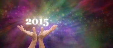 Onthaal in de Vieringsbanner van 2015 royalty-vrije illustratie
