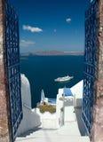 Onthaal in Santorini Royalty-vrije Stock Fotografie