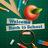 Onthaal terug naar school Stock Foto's