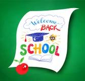 Onthaal terug naar School het van letters voorzien stock illustratie