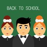 Onthaal terug naar school Leuke moderne schooljonge geitjes Royalty-vrije Stock Fotografie