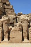 Onthoofde faraobeeldhouwwerken, Luxor Stock Afbeeldingen