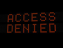 Ontkende toegang Stock Foto's