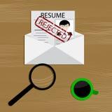 Ontkenning van werkgelegenheid royalty-vrije illustratie