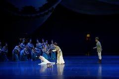 Ontmoet de slag-tweede handeling: een feest in de van het paleis-heldendicht de Zijdeprinses ` dansdrama ` royalty-vrije stock foto's