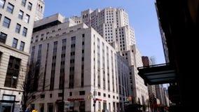 Ontmoete het Levenstoren in Manhattan stock video