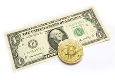 Ontmunting van Indische Muntinr tegen toenemende waarde van Amerikaanse Dollar USD Stock Afbeelding