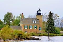 Ontonagon Lighthouse On Lake Superior Stock Photo