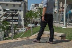 Ontop för blind man av trappuppgången arkivfoto