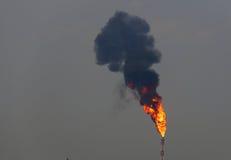 Ontploffing van brand Stock Afbeelding