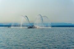 Ontploffing 5 van de brandboot royalty-vrije stock afbeeldingen