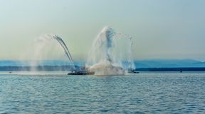 Ontploffing 3 van de brandboot royalty-vrije stock foto