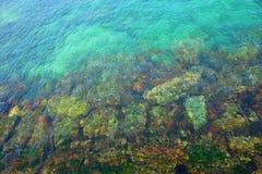 Ontruim als water, diep als overzees Stock Foto's