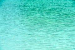 Ontruim en kalmeer Blauw Oceaanwater Stock Fotografie