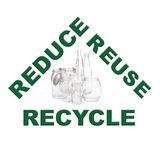 Ontruim glas recycling vector illustratie