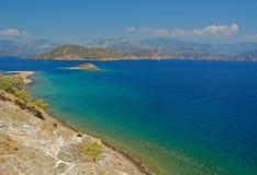 Ontruim overzees water van Turkse kust Royalty-vrije Stock Foto's