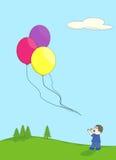Ontsnapte aan ballons stock illustratie