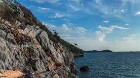 Ontspan bij de kust Stock Afbeeldingen