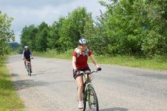 Ontspan het biking Royalty-vrije Stock Foto's