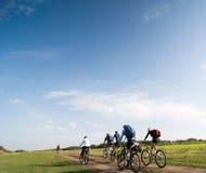 Ontspan het biking royalty-vrije stock fotografie