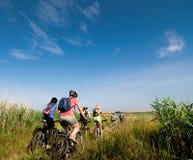 Ontspan het biking stock afbeeldingen